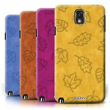 STUFF4 Phone Case/Cover for Samsung Galaxy Note 3 /Textile Effect Leaf Pattern