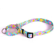 Flower Power Martingale Choke Nylon Dog Collar Patterned Webbing Hippy Psychedel
