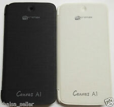 For Micromax Canvas A1 Android One Folio Flip Cover Case Pouch Diary Cover