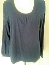 Adini 100% cotton marled jersey top long sleeves tunic style scoop neck