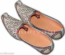 Hand Made Wedding Groom Achkan Sherwani Punjabi Jutti Khussa Mojari Shoes ACJ03