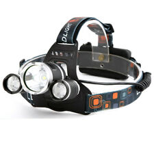 Rechargeable 6000Lm 3 Cree XM-L T6 LED Headlamp Headlight Head Torch Light Lamp