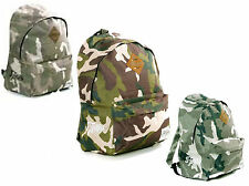 Army Camouflaged Back Packs Ruck Sack Shoulder School College Cycling Bag. £20