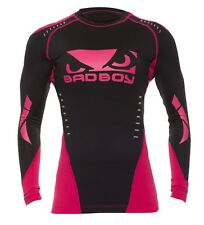 Bad Boy Ladies Sphere Top Long Sleeve - Black/Pink - Fitness Compression & Yoga
