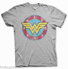 WONDER WOMAN Logo  T-Shirt  camiseta cotton officially licensed