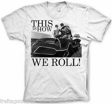 BATMAN How We Roll  T-Shirt  camiseta cotton officially licensed