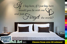 IF I LAY HERE - Snow Patrol Lyrics Vinyl Wall Art Quote Sticker Decal + FREE P&P