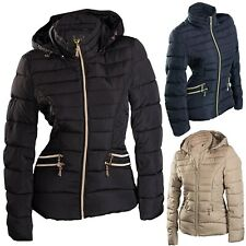 TOP DAMEN WINTER JACKE KURZ STEPP DAUNEN OPTIK ÜBERGANGJACKE KAPUZE SKIJACKE