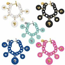 Bracciale in Silicone Gomma Donna Ops Love Pendente Monete Tinta OPS Object