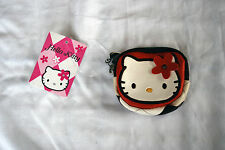 Hello Kitty - Argyle Brown Coin Purse, pouch, zipper,bag,  rare, sold out, Japan