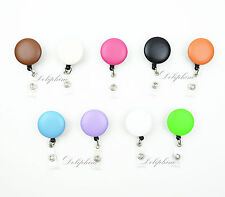 Signature PU Leather Retractable Badge Reel ID Holder with Belt Clip