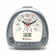 LifeMax Talking Alarm Clock Dual Analogue Digital Time Visually Impaired Voice