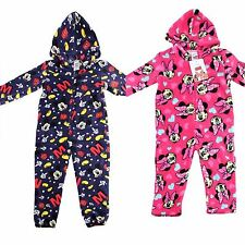 DISNEY MICKEY/ MINNIE MOUSE ONESEY PYJAMAS ALL IN ONE HOODED FOOTLESS