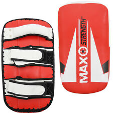 New Thai Kick Boxing Strike Shield Curved Arm Focus Pad MMA Muay Punch Mitts Bag