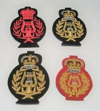 ROYAL MARINES BANDMASTER TOMBSTONE BADGES - BLUES, LOVATS OR NO 3
