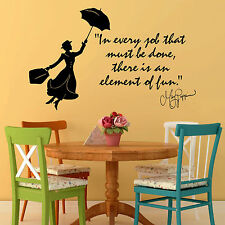 MARY POPPINS Julie Andrews In Every Job That VINYL WALL ART QUOTE DECAL STICKER
