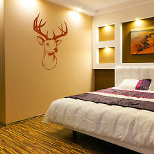 STAGS HEAD DEER trophy antlers steer  Vinyl wall art sticker room decal