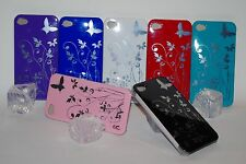 Hard Back Case für iPhone 4 4G 4GS Butterfly Flower Cover Schutz Hülle Etui neu