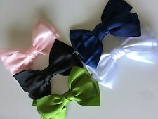 Girls Women Big satin Bow Ribbon Dance School color Hair head Pin Clip barrette