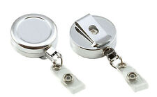 Retractable Chrome ID Badge Reel Metal Retractable Door Pass Holder FREEP&P lot