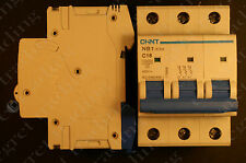 Chint NB1-63H C16 16A 3 Pole/Phase MCB Circuit Breaker - Free Delivery - NEW