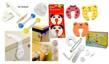 Child Safety Cupboard Door Latches Corner Protectors Drawer Straps Baby Proofing