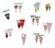 Kids Birthday Party Cone Bags - Avengers, Frozen, Cars, Mickey, Peppa, Sofia etc