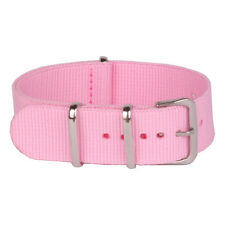 New Solid Pink Nato Mens Womens 18mm 20mm Nylon Watch Strap Wristwatch Band