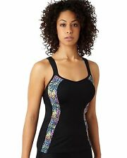 Brand New Panache Sports 7345 Black Geo Vest Top With Bra D-H Cup VARIOUS SIZES