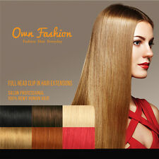 Remy Human Clip In Hair Extensions  Full Head