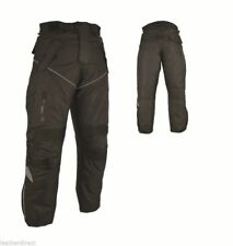 Motorbike Motorcycle Cordura Textile Trousers CE Approved Armours Black Pants UK