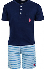 Kids Boys US POLO Summer Cotton Short Sleeves Top+Short Pants Outfit Set 7-14YR