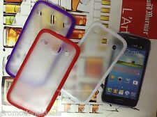 Rubber Bumper Transparent Solid Back Case For Samsung Galaxy Core i8260 / i8262