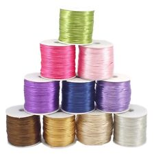 1mm Rattail Satin Cord Thread For Kumihimo Macrame Shamballa 5 Metre Packs