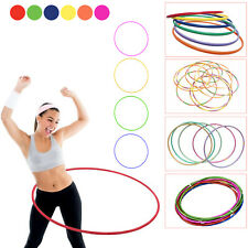 KIDS HULA HOOPS MULICOLOUR STRIPES INDOOR OUTDOOR FITNESS GYMNASTIC BOYS GIRLS