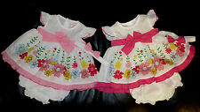 Baby Girl Summer Party Dress headband Knickers Set Outfit Pink Reborn NB-6M SALE