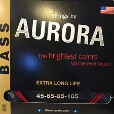 Aurora Bass Coloured Guitar Strings (4 string and 5 string sets available
