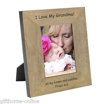 'I Love My Grandma!' Oak Veneer Wooden Photo Frame - 2 Sizes 4x6 & 5x7