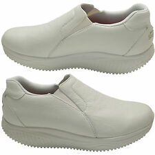 Skechers Shape Ups Womens Slip Resistant Leather Trainers Fitness Nurse Shoes