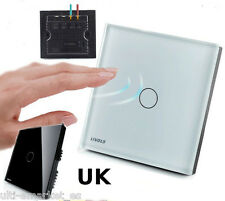 UK Standard Livolo interruptor tactil de luz touch switch cristal 1 way -OFERTA!