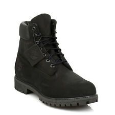 Timberland Mens Ankle Boots Black Classic 6 Inch Nubuck Leather Lace Up Casual