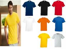 T-SHIRT MAGLIETTA UOMO MANICA CORTA 195 gr FRUIT OF THE LOOM cotone pesante