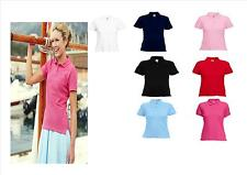 POLO DONNA FRUIT OF THE LOOM MANICA CORTA T-SHIRT F63560