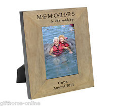 'MEMORIES' Personalised Oak Veneer Wooden Photo Frame - 2 Sizes 4x6 & 5x7