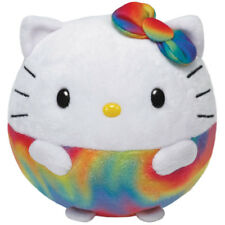 TY Beanie Ballz Hello Kitty BAL Arco Iris Animal de Peluche Animal Suave