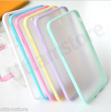 Slim Colorful TPU Clear Case For iPhone6, 6+ Phone Back Thin Matte Hard Cover