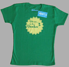 """LADIES FUNNY BUNKER MENTALITY GOLF T SHIRT """"BITE ME IN THE BUNKER"""" LIMITED STOCK"""