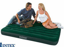 Intex Single Double Inflatable Guest Camping Air Bed Mattress Built In Pump