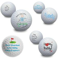 PERSONALISED Golf Ball Fathers Day Birthday Gift Idea For Daddy Dad For Golfer