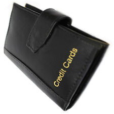 Credit card holder quality soft real leather purse wallet money coins bag pocket